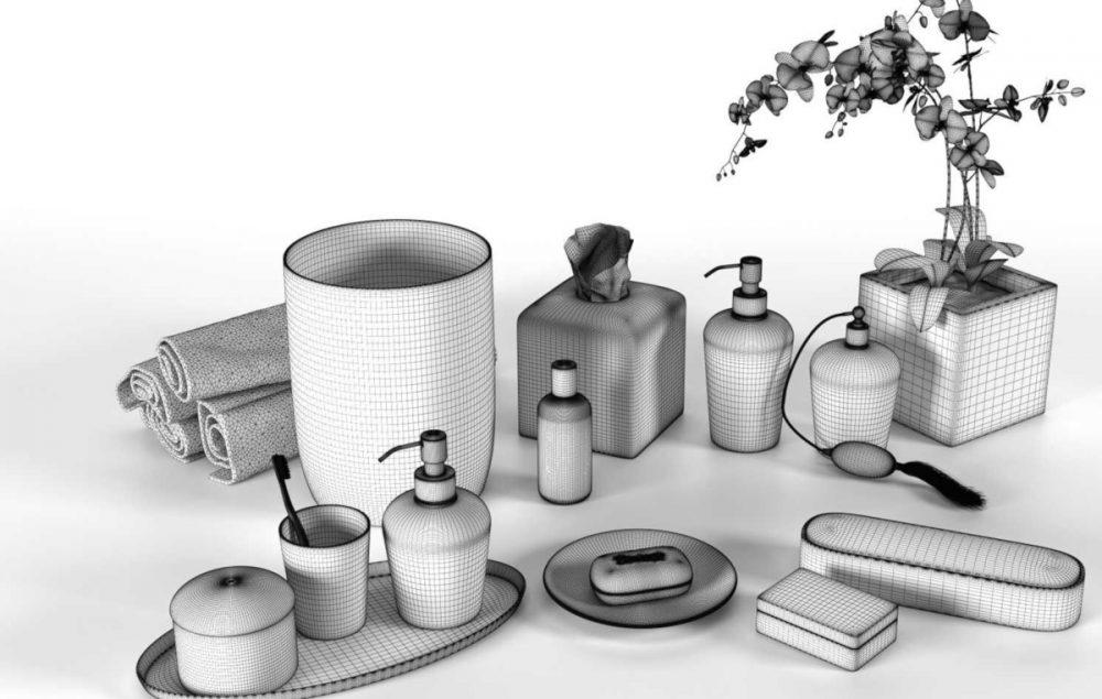 Bathroom Accessories by Villari Porcellane W1